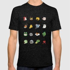 Hotline Miami Mens Fitted Tee Tri-Black SMALL