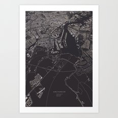 Amsterdam City Map I Art Print