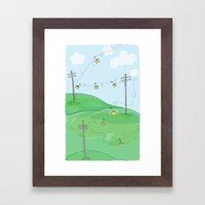 Hang a Message Framed Art Print