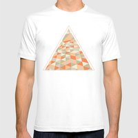 Triangulation Mens Fitted Tee White SMALL