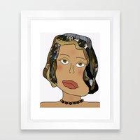 Digital Paper Doll 02 Framed Art Print