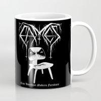 Modern Black Metal Mug