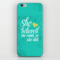 She Believed And She Did iPhone & iPod Skin