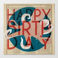 Happy Octopus Birthday! Canvas Print