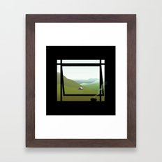WINDOWS 005: THE HILLS Framed Art Print