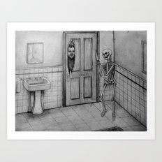 The Skeletal Shining Art Print