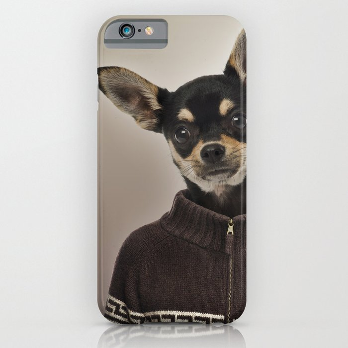 chihuahua wearing a pullover iphone ipod case by life on white creative society6. Black Bedroom Furniture Sets. Home Design Ideas