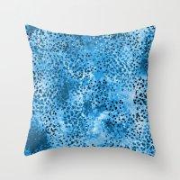 Wild (Series) Blue Throw Pillow