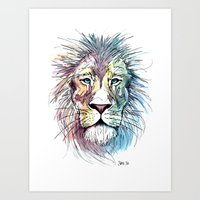 Technicolor Cat Art Print
