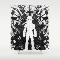 Ink Blot Link Kleptomani… Shower Curtain