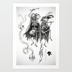 Danse Macabre Art Print