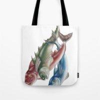 INKYFISH - Fish friends Tote Bag