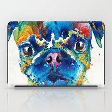 Colorful Pug Art - Smug Pug - By Sharon Cummings iPad Case