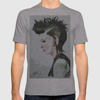 The Girl With The Dragon… Mens Fitted Tee Athletic Grey SMALL