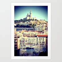 MARSEILLE Vieux Port And… Art Print