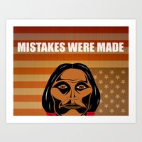 Mistakes Were Made Art Print