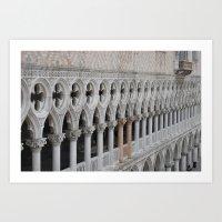 Pillars Art Print