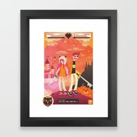 You & Me VS the world Framed Art Print