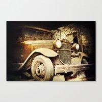Vintage metal Canvas Print