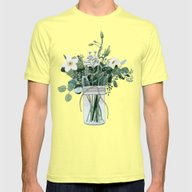 Forest Bouquet Mens Fitted Tee Lemon SMALL