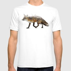 Red Fox SMALL Mens Fitted Tee White