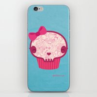 Cupcake Skull iPhone & iPod Skin