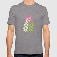 Golden Thyme and Silver Mint Mens Fitted Tee Tri-Grey SMALL