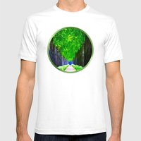 Leaves In The Sky - Pain… Mens Fitted Tee White SMALL