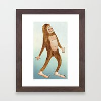 Sasquatch Framed Art Print