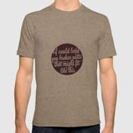 One Direction: Over Agai… Mens Fitted Tee Tri-Coffee SMALL