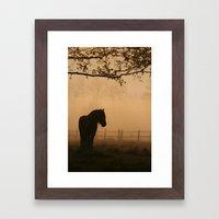 a pony Framed Art Print