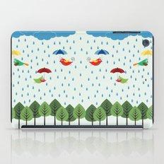 Birds in the rain. iPad Case