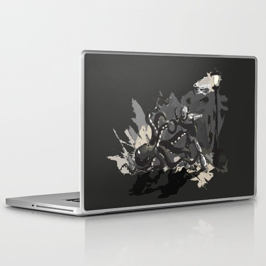 Octopus Wrestling with a Robot Laptop & iPad Skin