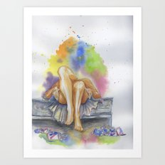 Last Night is a Blur Art Print