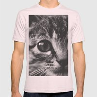Big eyes Mens Fitted Tee Light Pink SMALL