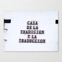 Tradition/Translation Canvas Print