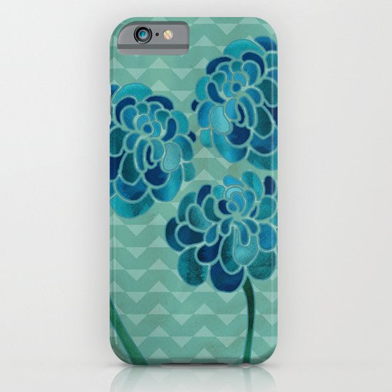 Blue Chrysanthemums iPhone & iPod Case