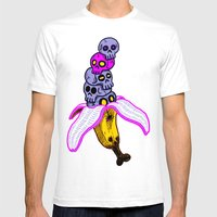Death By Banana Mens Fitted Tee White SMALL