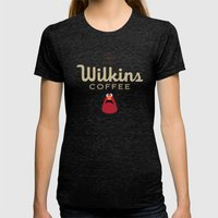 Wontkins Womens Fitted Tee Tri-Black SMALL