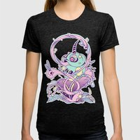 Fantasy Chameleon Womens Fitted Tee Tri-Black SMALL