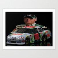 Dale Earnhardt Jr. 3ds Sprint Cup car #NASCAR Art Print