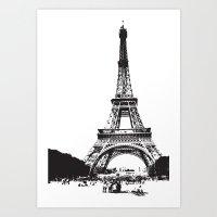 WE LOVE PARIS Art Print