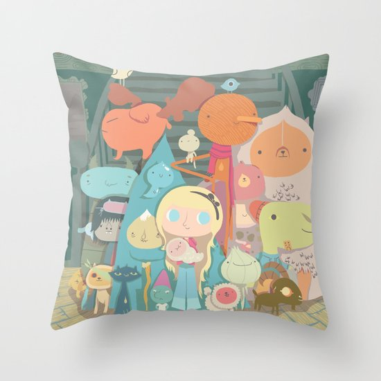 frimin Throw Pillow