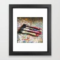 Four Paintbrushes Framed Art Print