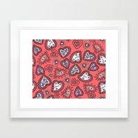 Love & heart Framed Art Print