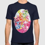 Sailor Moon Dots Team Mens Fitted Tee Navy SMALL