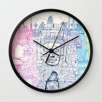 Angkor Wat & Thailand Wall Clock