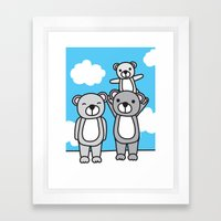 Polar Bear Family Framed Art Print