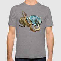 Abalone with Historic Maori Fishing Hooks Mens Fitted Tee Tri-Grey SMALL
