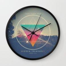Seek Them Like Hidden Treasure - Proverbs 2:4 Wall Clock